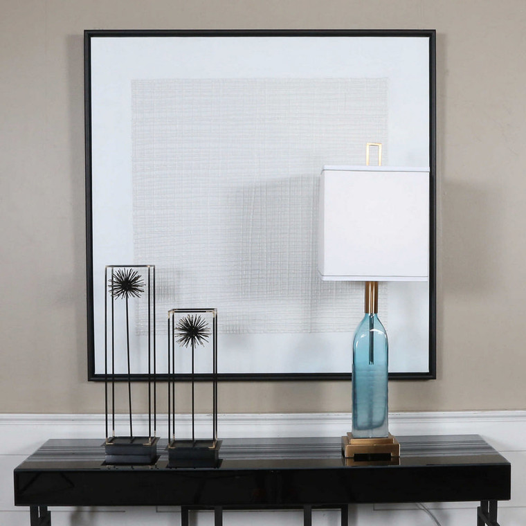 Gridlock Hand Painted Canvas by Uttermost