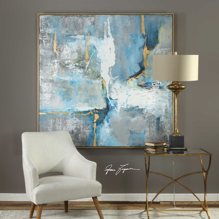Meditation Hand Painted Canvas by Uttermost