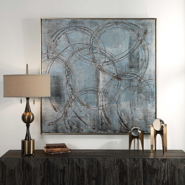 Interlock Hand Painted Canvas by Uttermost