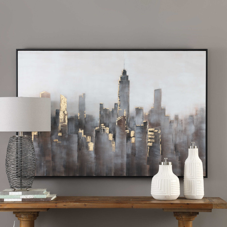 Skyline Hand Painted Canvas by Uttermost