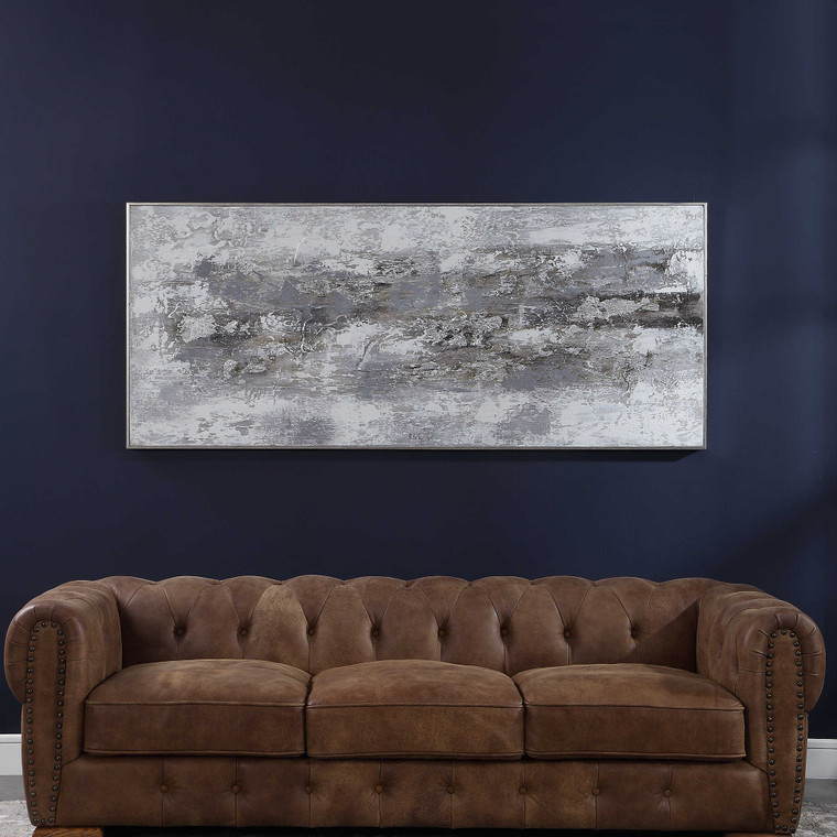 Weathered Stone Hand Painted Canvas by Uttermost