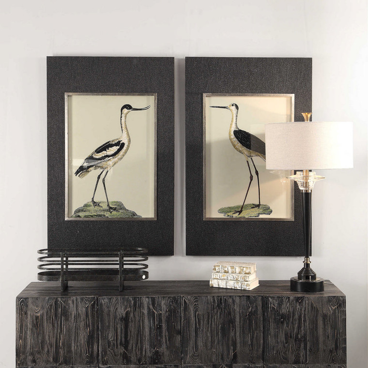 Birds On The Shore Framed Prints S/2 by Uttermost