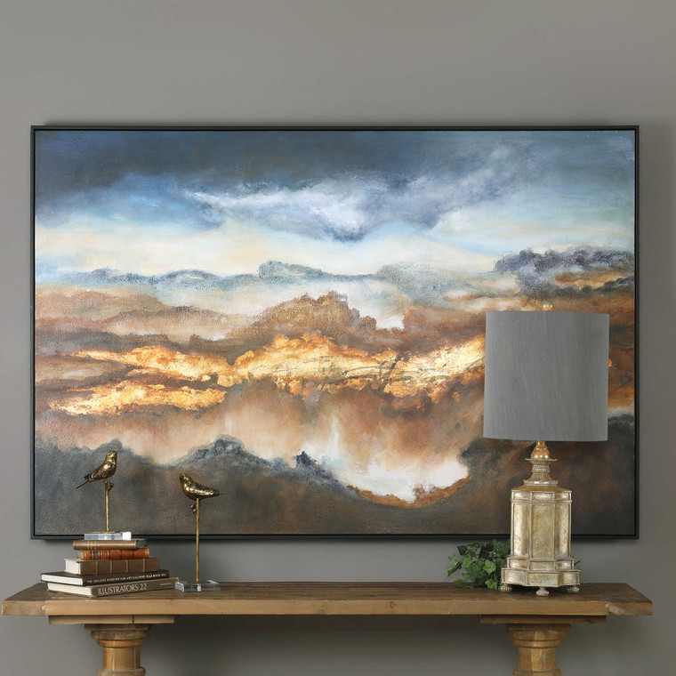 Valley Of Light Hand Painted Canvas by Uttermost