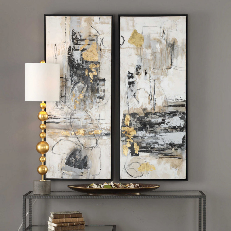 Life Scenes Hand Painted Canvases S/2 by Uttermost