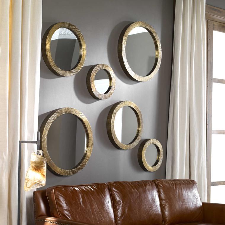 Novara Round Mirrors S/3 by Uttermost