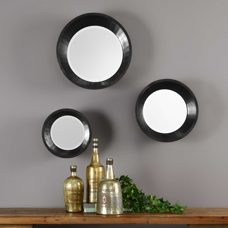 Majida Round Mirrors S/3 by Uttermost
