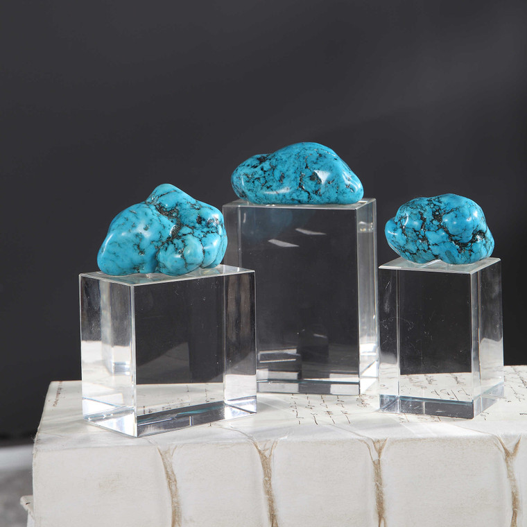 Turquoise Nuggets S/3 by Uttermost