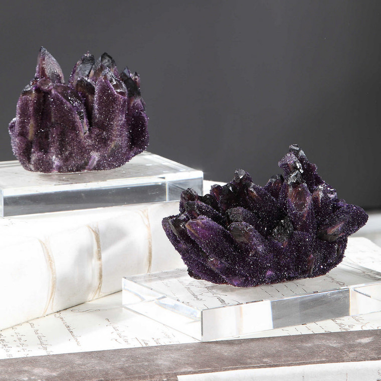 Amethyst Clusters S/2 by Uttermost