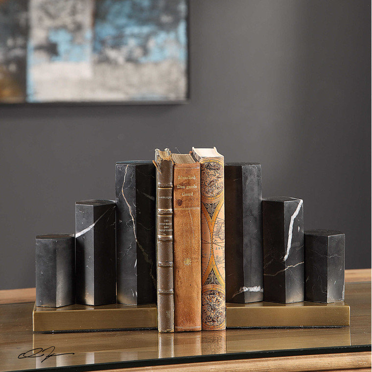 Nate Bookends S/2 by Uttermost