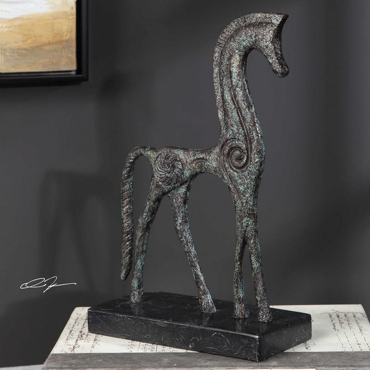 Etruscan Horse Figurine by Uttermost
