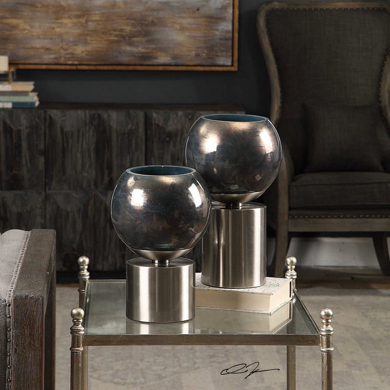 Jadiel Candleholders S/2 by Uttermost