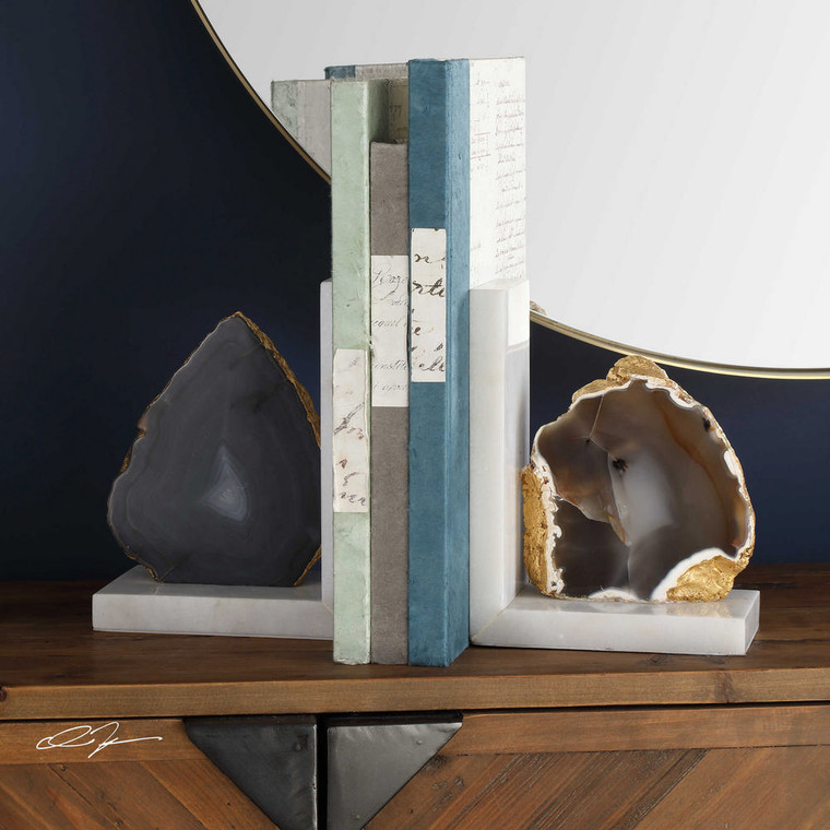 Aysha Bookends S/2 by Uttermost