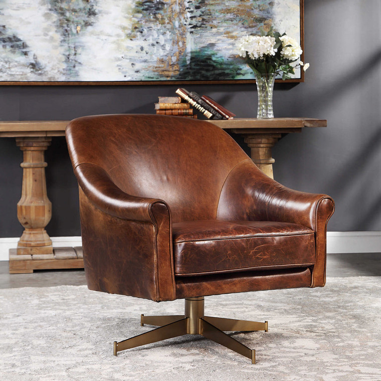 Ellington Swivel Chair by Uttermost