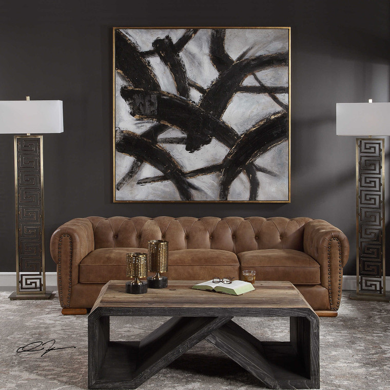 Slash Hand Painted Canvas by Uttermost