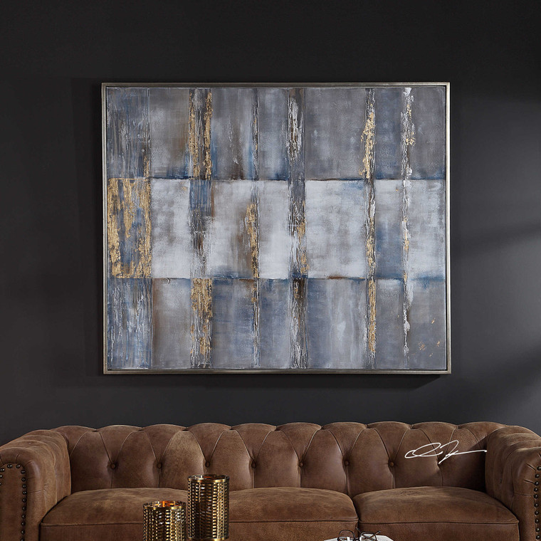 Subtle Pattern Hand Painted Canvas by Uttermost