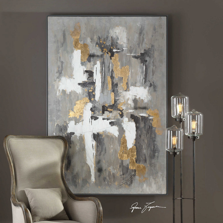 Crossover Hand Painted Canvas by Uttermost