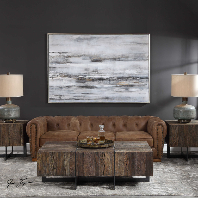 Smoky Waves Hand Painted Canvas by Uttermost