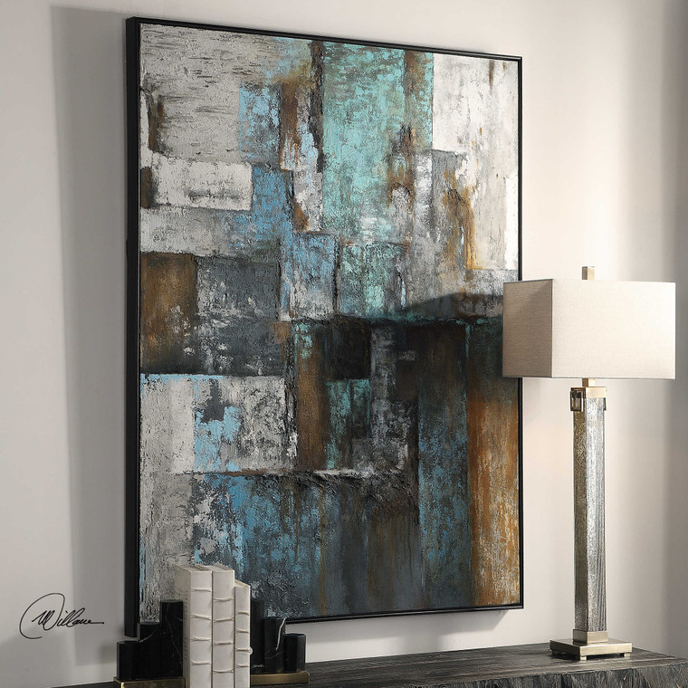 Tiles Hand Painted Canvas by Uttermost