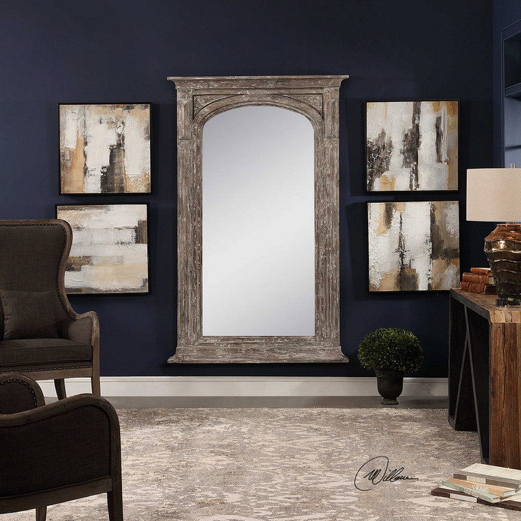 Beige Shadows Hand Painted Canvases S/4 by Uttermost