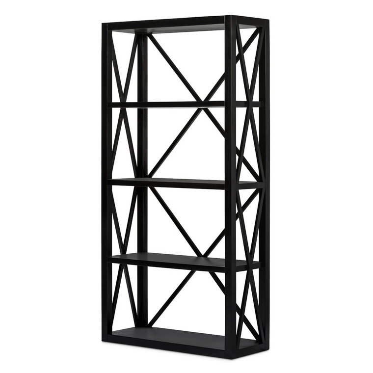 Hamptons Cross Sorrento Bookshelf - Black