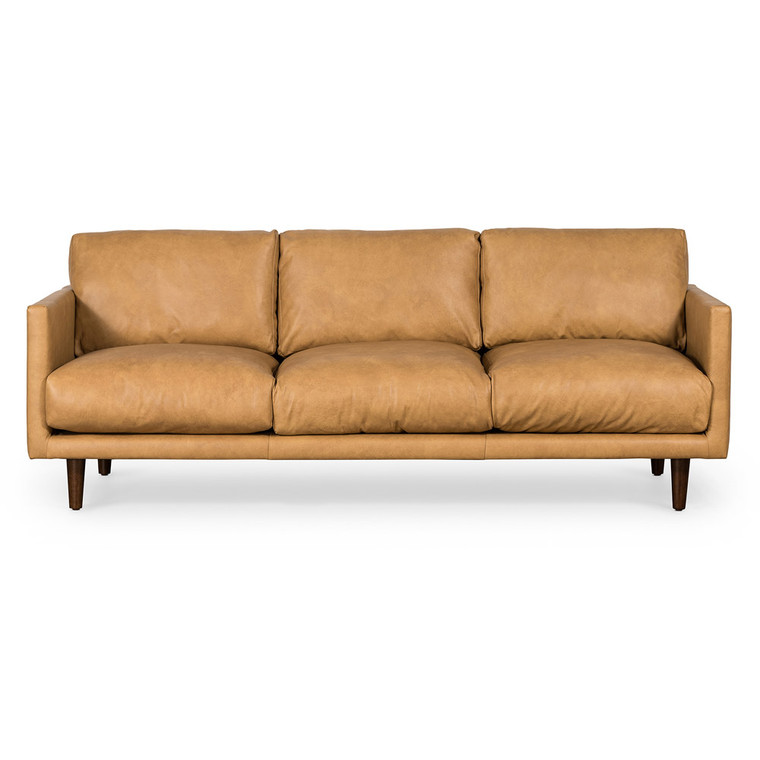 Casper 3 Seat Sofa - Tan Leather by Maison Living