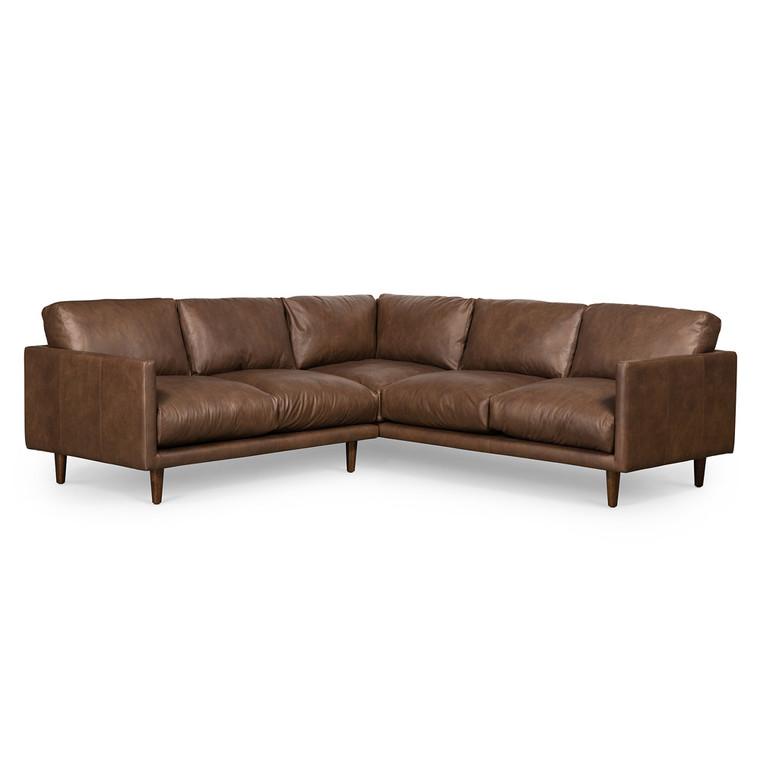 Casper Corner Sofa - Brown Leather by Maison Living