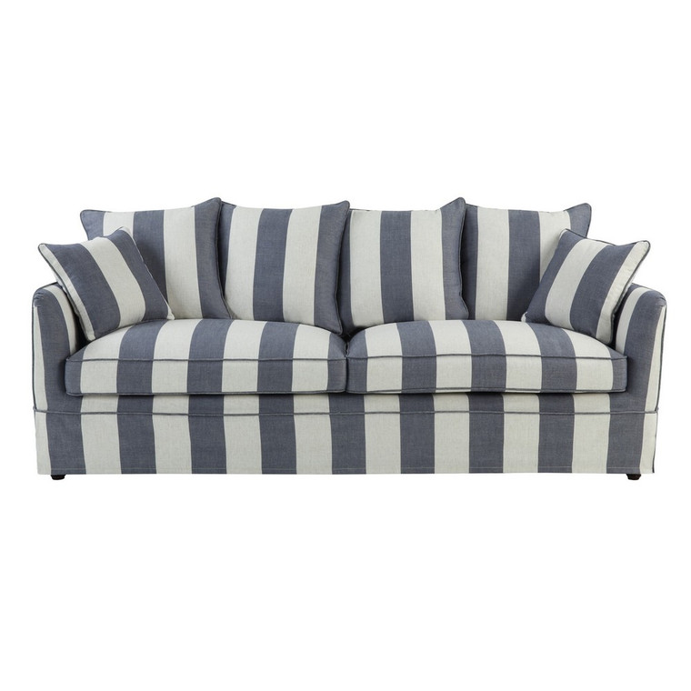 Portsea 3 Seat Sofa COVER ONLY - Denim/Cream Stripe by Maison Living