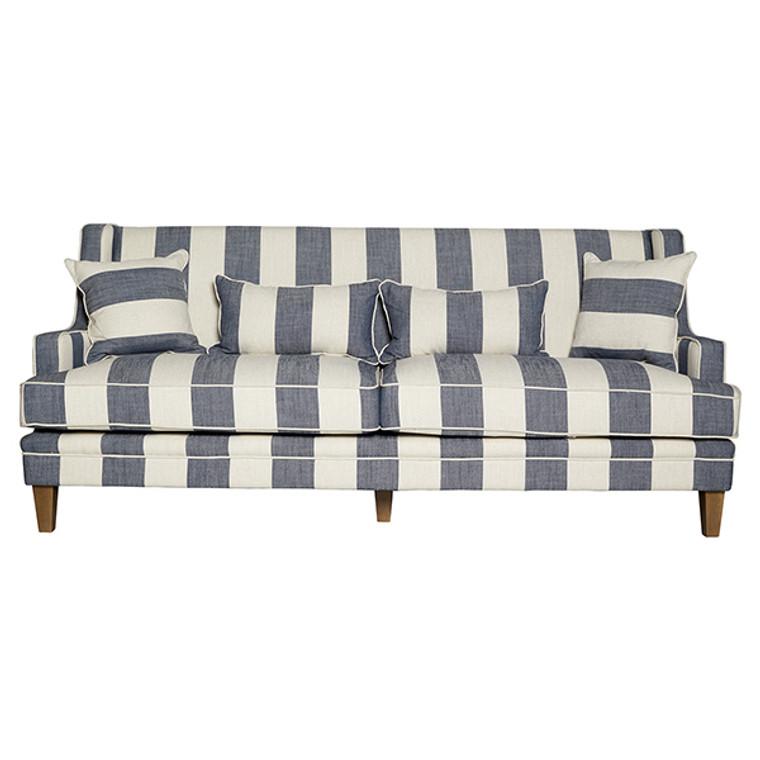Byron 3 Seat Sofa - Denim & Cream Stripe by Maison Living