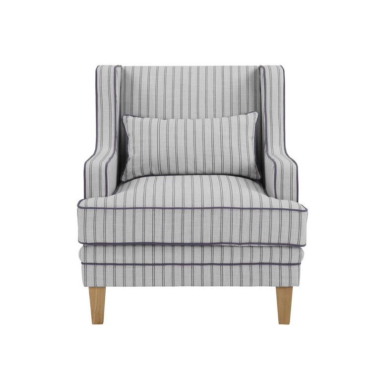 Byron Armchair - Blue/White Pin Stripe by Maison Living