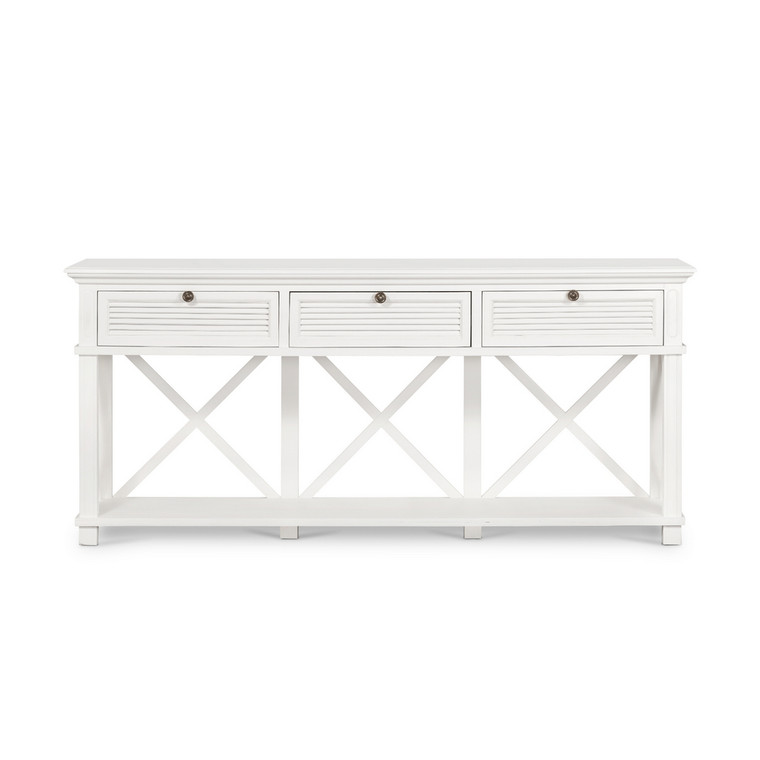 Hamptons Shutter 3 Draw Console White by Maison Living