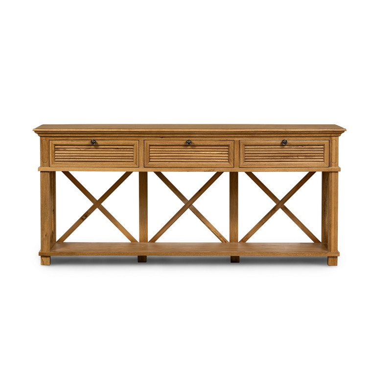 Hamptons Shutter 3 Draw Console Natural by Maison Living