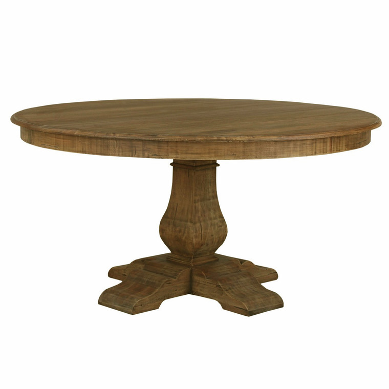 Provincial Round Trestle Dining Table 150cm - Antique French Oak  (26408-AFD)