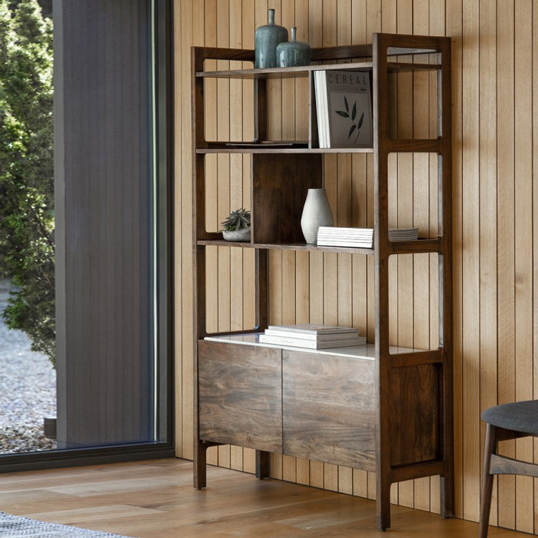 Bergen Scandinavian Mid-Century Modern Display Unit