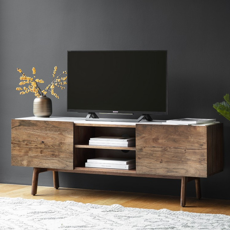 Bergen Scandinavian Mid-Century Modern TV Media Unit