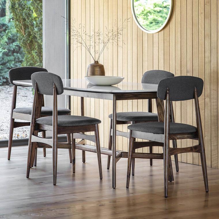 Bergen Scandinavian Mid-Century Modern Dining Table