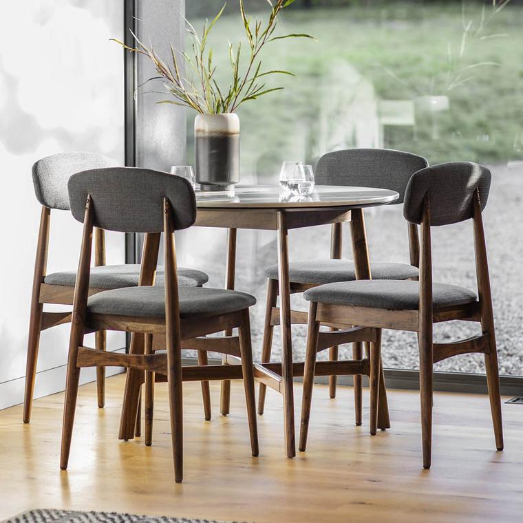 Bergen Scandinavian Mid-Century Modern Round Dining Table