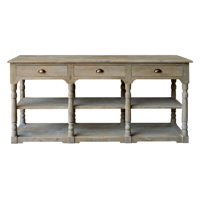 Normandy Console Table - Weathered Oak