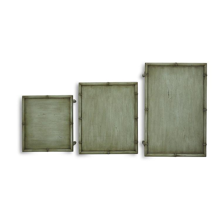 Cane Nesting Tables - Size: 66H x 70W x 46D (cm)