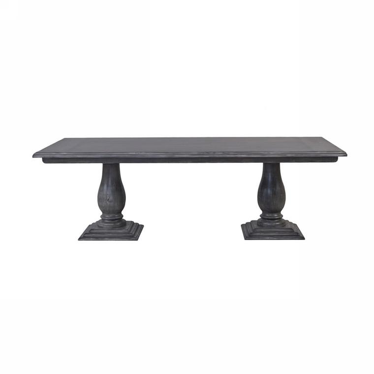 Whitehall Pedestal Table 210cm - Size: 76H x 214W x 102D (cm)