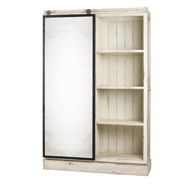 Sonoma Kitchen Cabinet w/ Antique Mirror Sliding Door - Size: 212H x 138W x 40D (cm)