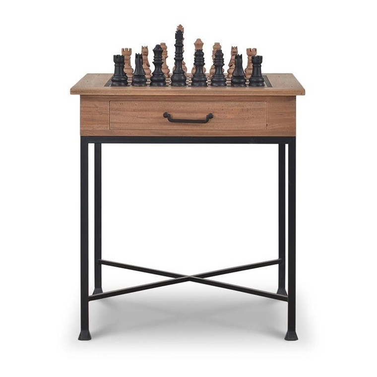 Urban Side Chess Table - Size: 81H x 75W x 75D (cm)