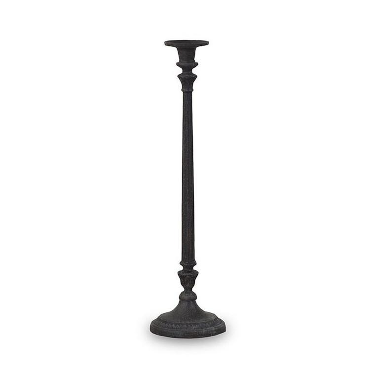 Regency Iron Candlestick - Size: 52H x 14W x 14D (cm)
