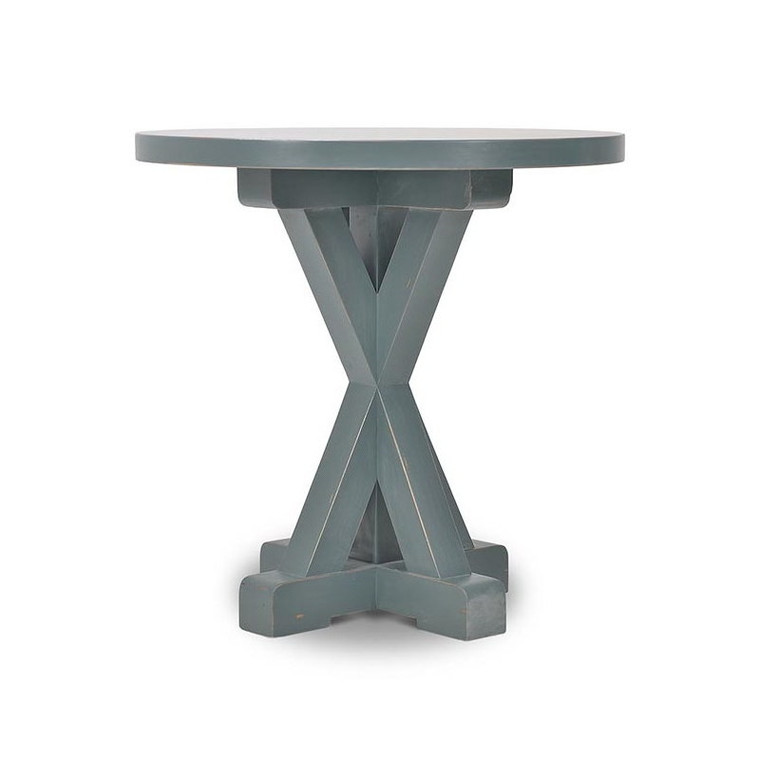Hamptons X-Base Round Counter Table 90cm - Size: 91H x 91W x 91D (cm)