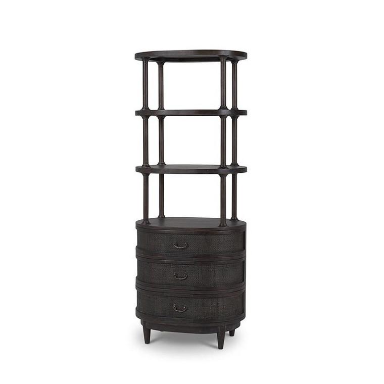 Cangu Bedside w/ Hutch - Size: 170H x 66W x 51D (cm)