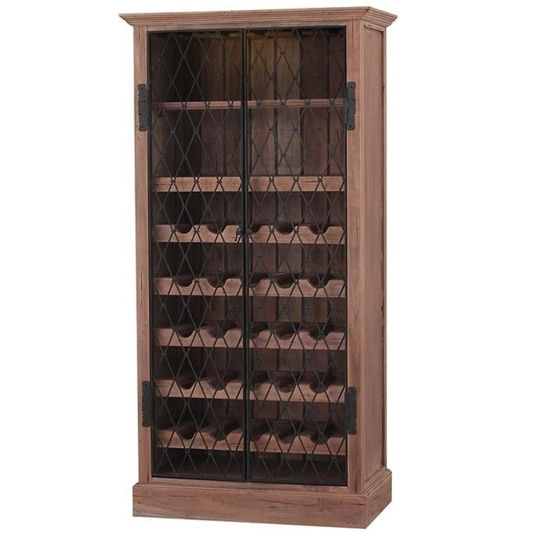Sonoma Wine Cabinet w/ 1 LED - Size: 175H x 88W x 48D (cm)