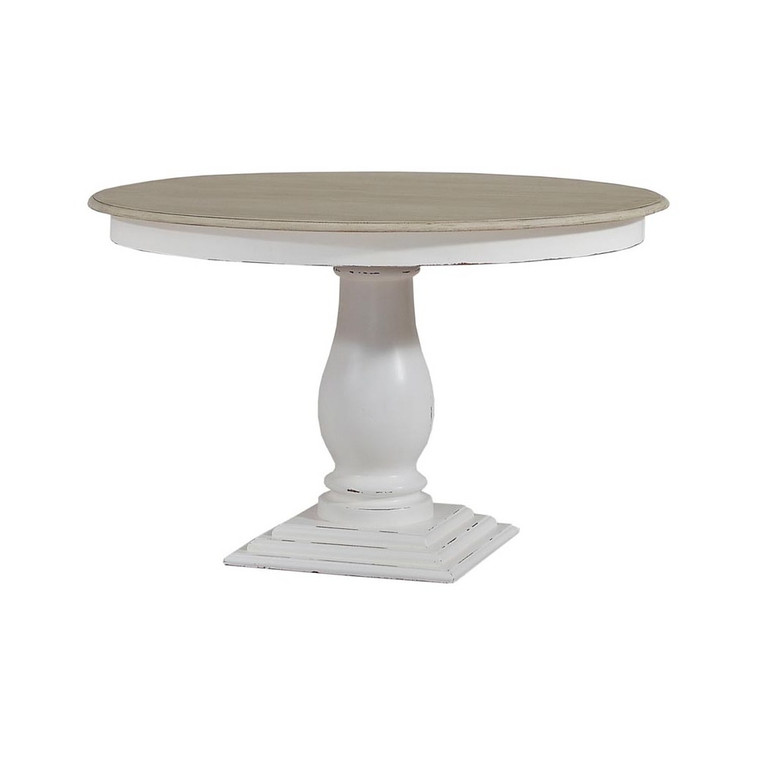 Whitehall Pedestal Dining Table 120cm w/out Grooves - Size: 76H x 122W x 122D (cm)