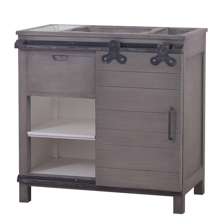 Sonoma Single Vanity w/ Out Marble & Sink - Size: 93H x 94W x 51D (cm)