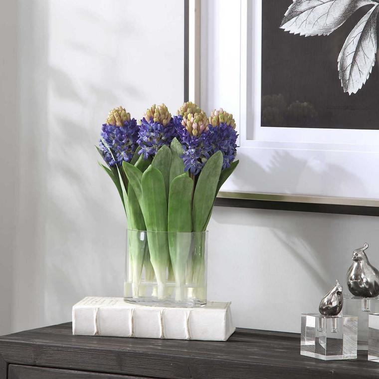 Etta Hyacinth Bouquet - Size: 39H x 36W x 20D (cm)