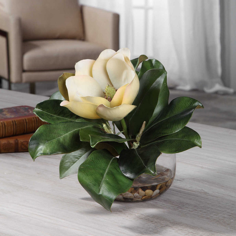 Celia Silk Magnolia Accent - Size: 30H x 33W x 22D (cm)
