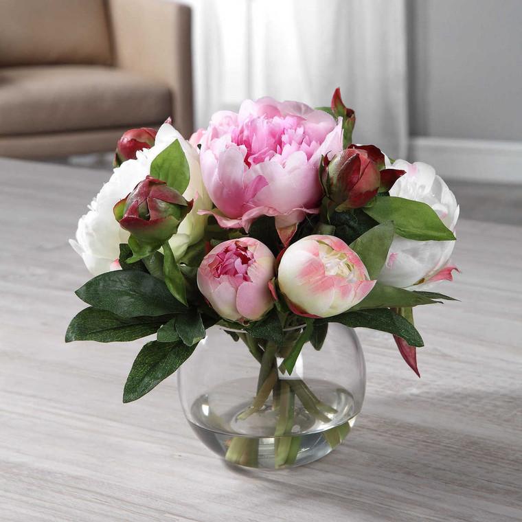 Blaire Peony Bouquet - Size: 22H x 25W x 25D (cm)